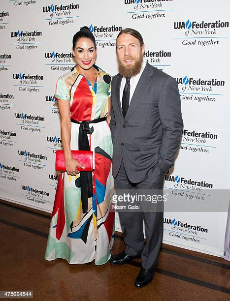 Brie Bella and Daniel Bryan attend the UJAFederation New York's Entertainment Division Signature Gala at 583 Park Avenue on June 2 2015 in New York...