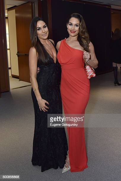 Brie Bella and Nikki Bella attend Diamonds Unleashed by Kara Ross launch party hosted by Kara Ross Anne Fulenwider and Marie Claire Magazine on...