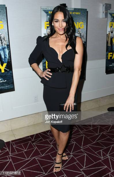 Brie Bella attends Fighting With My Family Los Angeles Tastemaker Screening at The London Hotel on February 20 2019 in West Hollywood California
