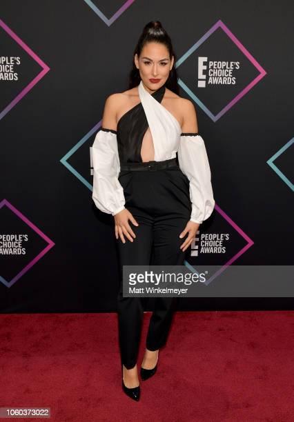 Brie Bella attends the People's Choice Awards 2018 at Barker Hangar on November 11 2018 in Santa Monica California