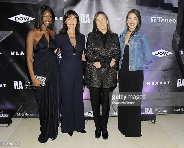 Brie Bobalek Paula Liveris Jenny Holzer and Alexandra Liveris attend Royal Academy America Gala Honoring Norman Foster and Jenny Holzer at Hearst...
