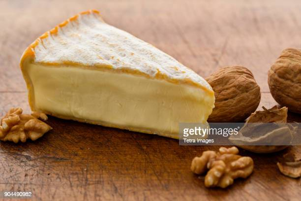 Brie cheese with walnuts