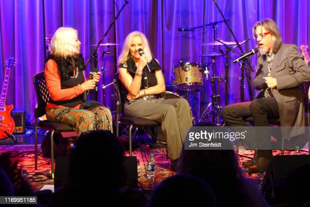 Brie Darling Cherie Currie Scott Goldman during interview at the Grammy Museum in Los Angeles California on August 1 2019