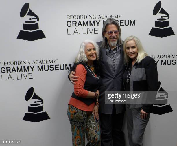Brie Darling Scott Goldman Cherie Currie at the Grammy Museum in Los Angeles California on August 1 2019
