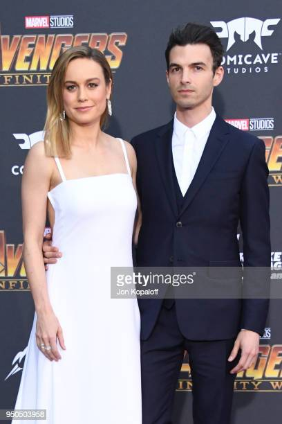 Brie Larson and Alex Greenwald attend the premiere of Disney and Marvel's 'Avengers: Infinity War' on April 23, 2018 in Los Angeles, California.