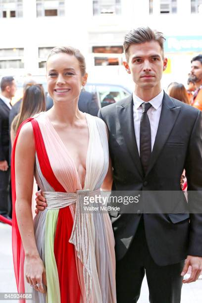 Brie Larson and Alex Greenwald attend the 'Unicorn Store' premiere during the 2017 Toronto International Film Festival at Ryerson Theatre on...
