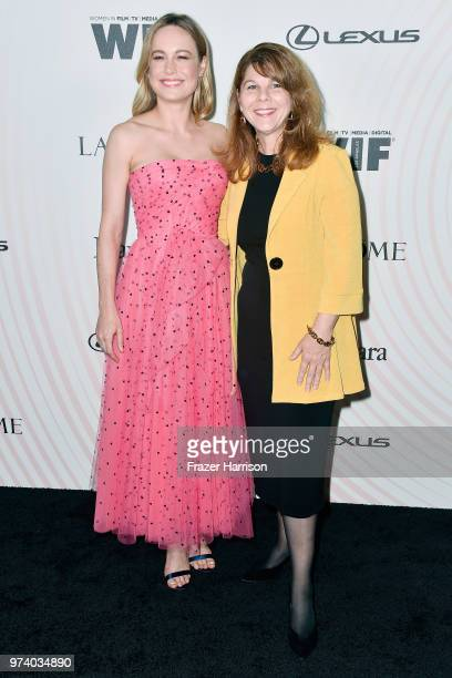 Brie Larson and Dr Stacy L Smith attend the Women In Film 2018 Crystal Lucy Awards presented by Max Mara Lancôme and Lexus at The Beverly Hilton...