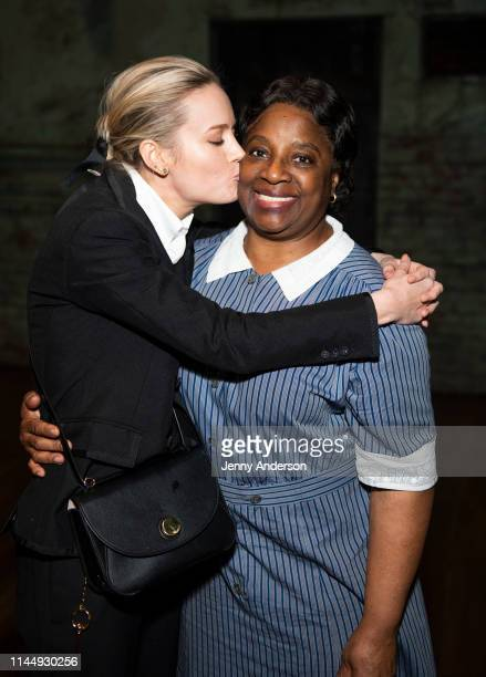 Brie Larson and LaTanya Richardson Jackson pose backstage at To Kill a Mockingbird at the Shubert Theatre on April 24 2019 in New York City