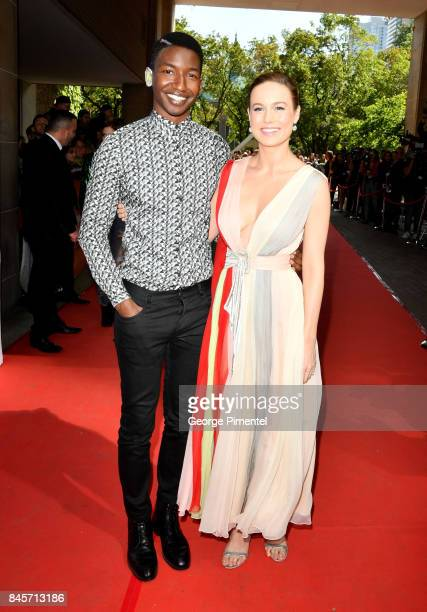 Brie Larson and Mamoudou Athie attend the 'Unicorn Store' premiere during the 2017 Toronto International Film Festival at Ryerson Theatre on...