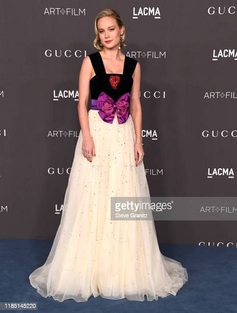 Brie Larson arrives at the 2019 LACMA Art Film Gala Presented By Gucci at LACMA on November 02 2019 in Los Angeles California