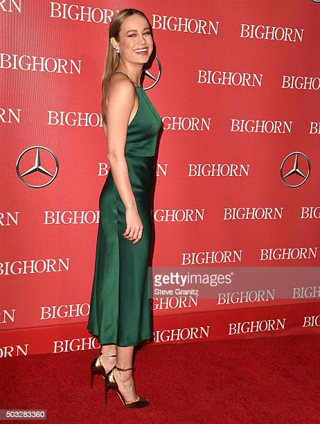 Brie Larson arrives at the 27th Annual Palm Springs International Film Festival Awards Gala at Palm Springs Convention Center on January 2 2016 in...