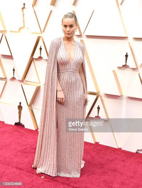 Brie Larson arrives at the 92nd Annual Academy Awards at Hollywood and Highland on February 09, 2020 in Hollywood, California.