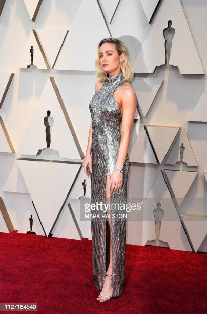 Brie Larson arrives for the 91st Annual Academy Awards at the Dolby Theatre in Hollywood California on February 24 2019