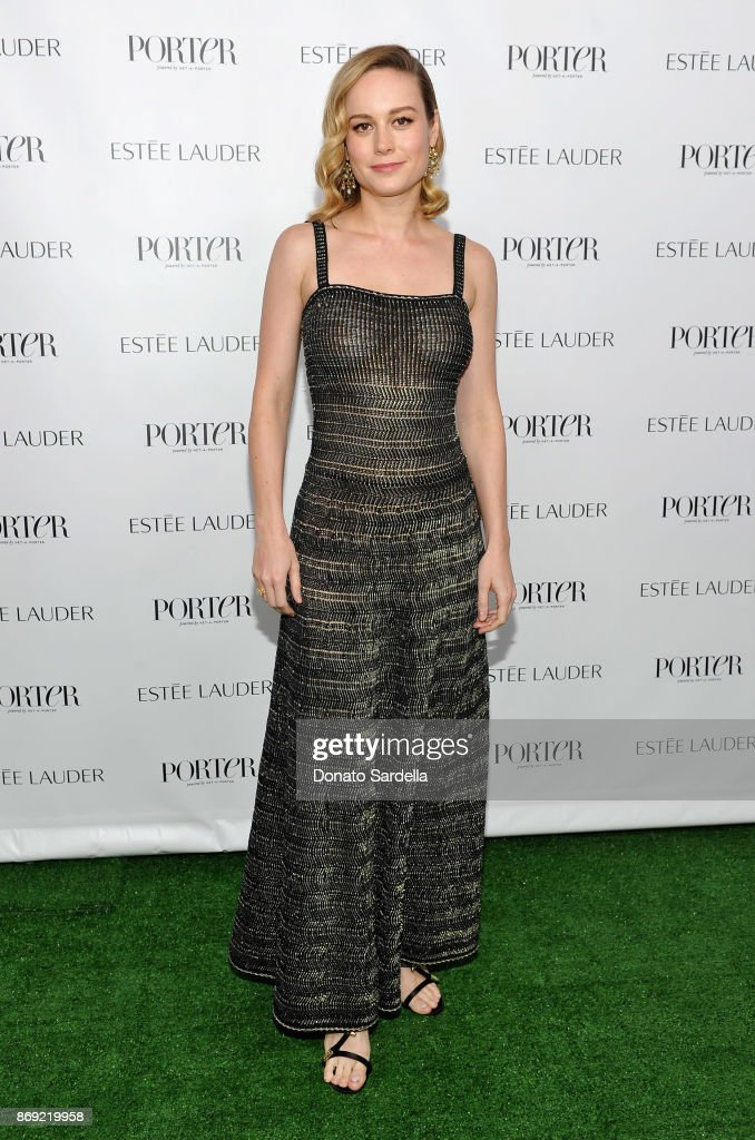 Brie Larson at PORTER Hosts Incredible Women Gala In Association With Estee Lauder at NeueHouse Los Angeles on November 1, 2017 in Hollywood, California.