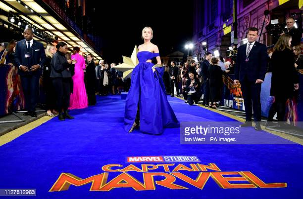 Brie Larson attending the Captain Marvel European Premiere held at the Curzon Mayfair London Picture date Wednesday February 27 2019 Photo credit...