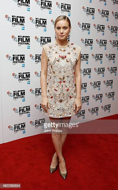 Brie Larson attends a screening of 'Room' during the BFI London Film Festival at Vue Leicester Square on October 11 2015 in London England