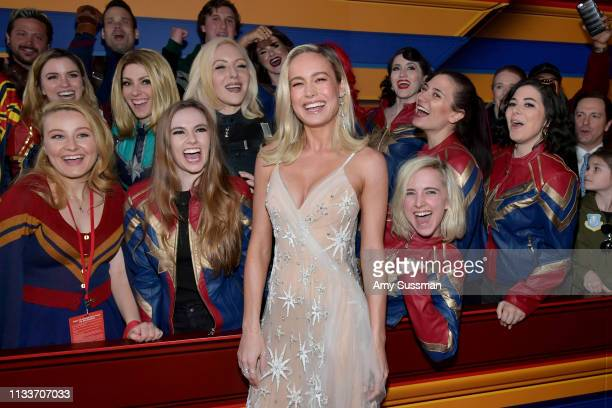 """Brie Larson attends Marvel Studios """"Captain Marvel"""" Premiere on March 04, 2019 in Hollywood, California."""