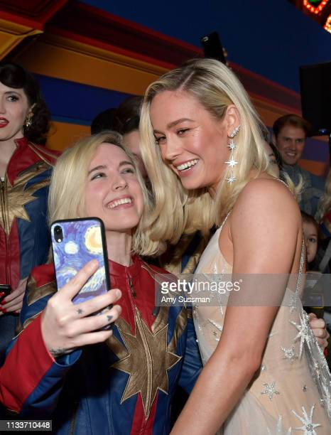 Brie Larson attends Marvel Studios Captain Marvel Premiere on March 04 2019 in Hollywood California