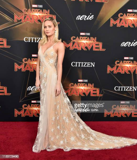 Brie Larson attends Marvel Studios 'Captain Marvel' Premiere on March 04 2019 in Hollywood California