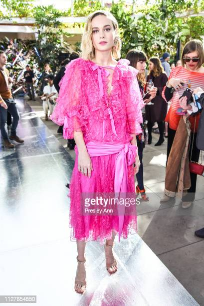 Brie Larson attends Rodarte FW19 Fashion Show at The Huntington Library and Gardens on February 05 2019 in San Marino California