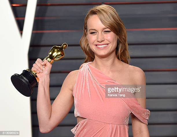 Brie Larson attends the 2016 Vanity Fair Oscar Party Hosted By Graydon Carter at Wallis Annenberg Center for the Performing Arts on February 28 2016...
