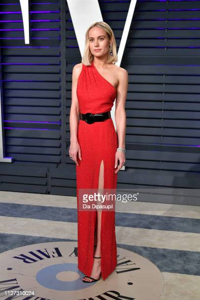 Brie Larson attends the 2019 Vanity Fair Oscar Party hosted by Radhika Jones at Wallis Annenberg Center for the Performing Arts on February 24 2019...