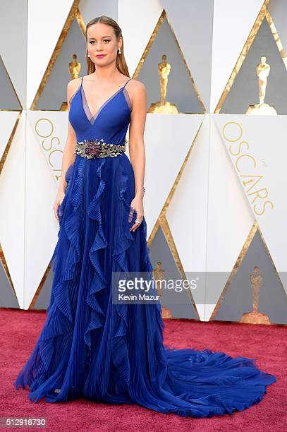 Brie Larson attends the 88th Annual Academy Awards at Hollywood Highland Center on February 28 2016 in Hollywood California