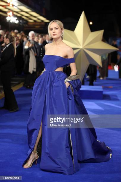 Brie Larson attends the Captain Marvel European Gala held at The Curzon Mayfair on February 27 2019 in London England