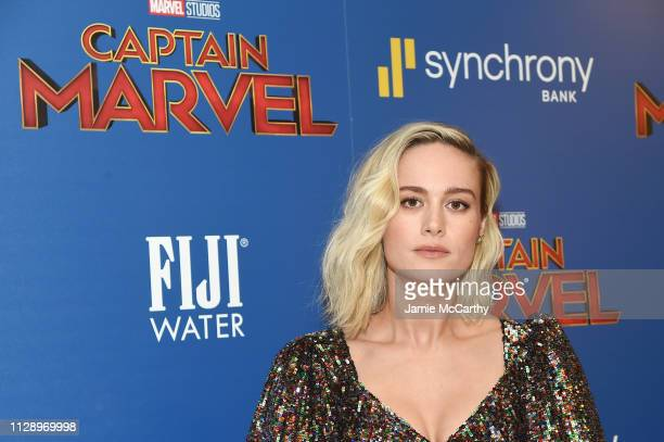Brie Larson attends the Captain Marvel screening at Henry R Luce Auditorium at Brookfield Place on March 6 2019 in New York City