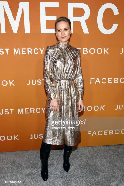 Brie Larson attends the LA Community Screening of Warner Bros Pictures' Just Mercy at Cinemark Baldwin Hills on January 06 2020 in Los Angeles...
