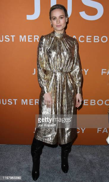 "Brie Larson attends the LA Community Screening Of Warner Bros Pictures' ""Just Mercy"" at Cinemark Baldwin Hills on January 06, 2020 in Los Angeles,..."