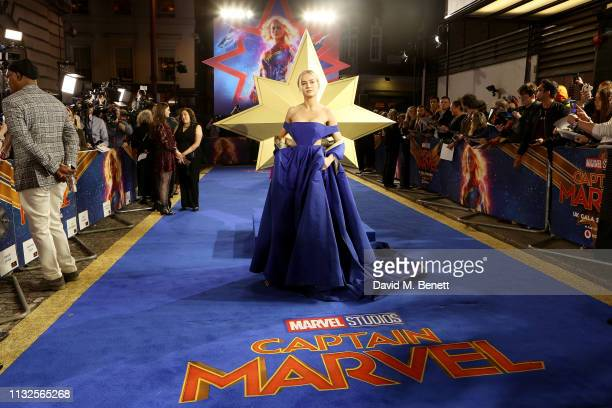 Brie Larson attends the European Gala screening of Captain Marvel at The Curzon Mayfair on February 27 2019 in London England
