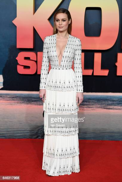 Brie Larson attends the European premiere of Kong Skull Island at the Cineworld Empire Leicester Square on February 28 2017 in London United Kingdom