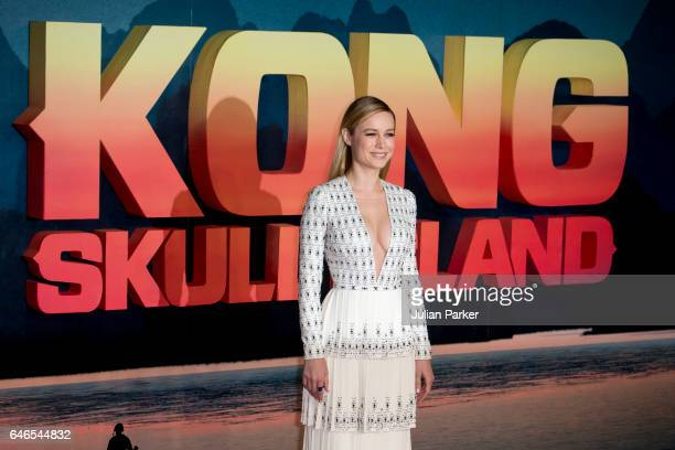 Brie Larson attends the European premiere of 'Kong Skull Island' at the Cineworld Empire Leicester Square on February 28 2017 in London United Kingdom