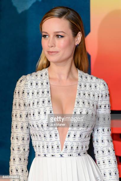 Brie Larson attends the European premiere Of Kong Skull Island on February 28 2017 in London United Kingdom