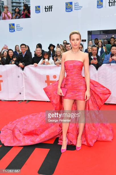Brie Larson attends the Just Mercy premiere during the 2019 Toronto International Film Festival at Roy Thomson Hall on September 06 2019 in Toronto...