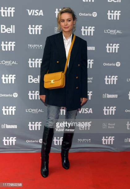 """Brie Larson attends the """"Just Mercy"""" press conference during the 2019 Toronto International Film Festival at TIFF Bell Lightbox on September 07, 2019..."""