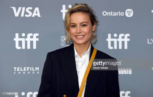 Brie Larson attends the Just Mercy press conference during the 2019 Toronto International Film Festival at TIFF Bell Lightbox on September 07 2019 in...