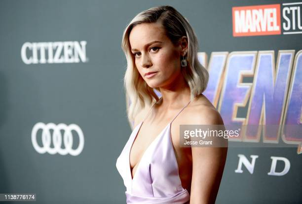Brie Larson attends the Los Angeles World Premiere of Marvel Studios' Avengers Endgame at the Los Angeles Convention Center on April 23 2019 in Los...