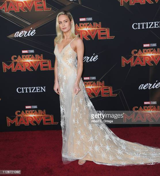 Brie Larson attends the Marvel Studios Captain Marvel Premiere held on March 4 2019 in Hollywood California