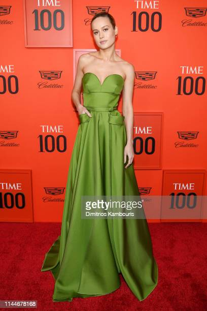 Brie Larson attends the TIME 100 Gala Red Carpet at Jazz at Lincoln Center on April 23 2019 in New York City