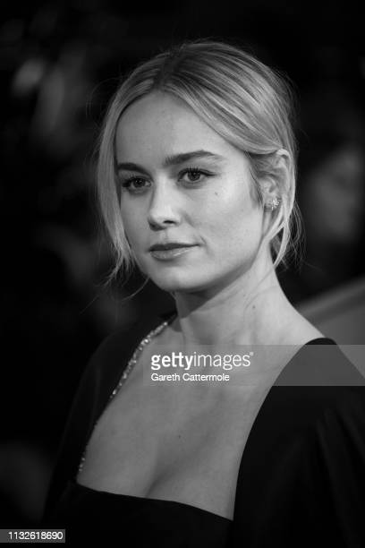 Brie Larson attends the UK Gala Screening of Marvel Studios' Captain Marvel at The Curzon Mayfair on February 27 2019 in London England
