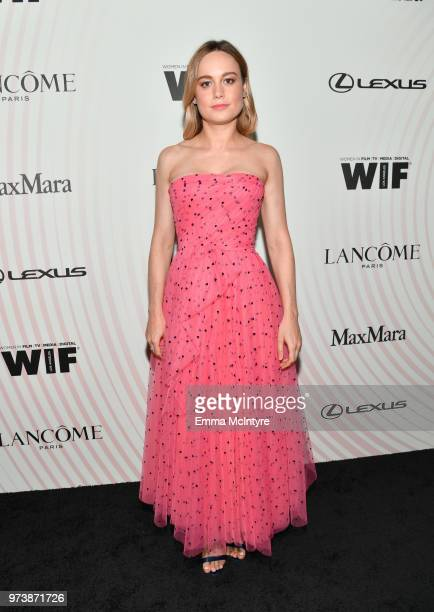 Brie Larson attends the Women In Film 2018 Crystal Lucy Awards presented by Max Mara Lancôme and Lexus at The Beverly Hilton Hotel on June 13 2018 in...