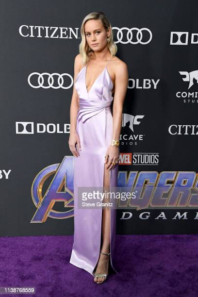 Brie Larson attends the world premiere of Walt Disney Studios Motion Pictures Avengers Endgame at the Los Angeles Convention Center on April 22 2019...