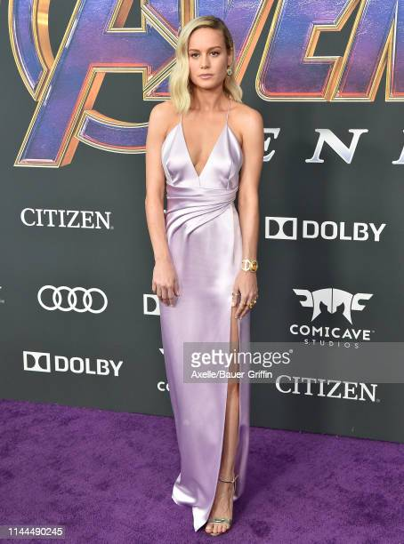 Brie Larson attends the World Premiere of Walt Disney Studios Motion Pictures 'Avengers Endgame' at Los Angeles Convention Center on April 22 2019 in...