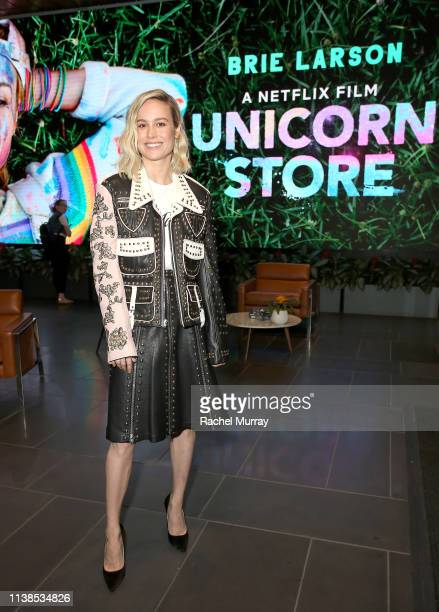 Brie Larson attends Unicorn Store Screening and QA at NETFLIX on March 26 2019 in Los Angeles California