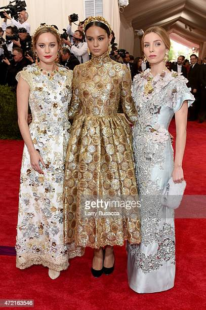 Brie Larson Courtney Eaton and Annabelle Wallis attend the China Through The Looking Glass Costume Institute Benefit Gala at the Metropolitan Museum...