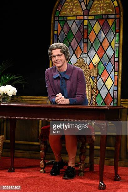 LIVE Brie Larson Episode 1702 Pictured Dana Carvey as Church Lady during the Church Lady Cold Open sketch on May 7 2016