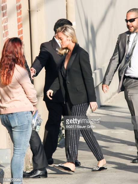 Brie Larson is seen arriving at 'Jimmy Kimmel Live' on March 04 2019 in Los Angeles California