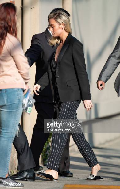 Brie Larson is seen at 'Jimmy Kimmel Live' on March 04 2019 in Los Angeles California